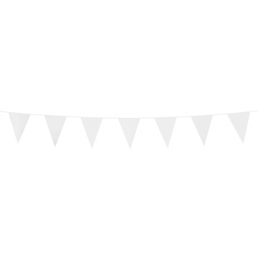 Bunting PE 3m. white - size flags:10x15cm