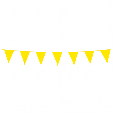 Bunting PE 3m. yellow - size flags:10x15cm