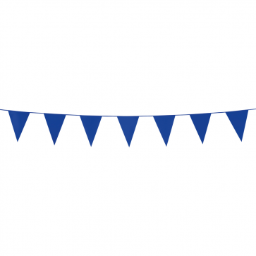 Bunting PE 3m. blue - size flags:10x15cm