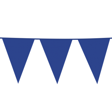 Giant Bunting PE 10m. blue - size flags: 30x45cm