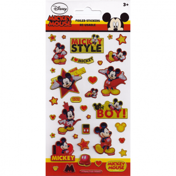 Small Foil Stickers - Mickey Mouse