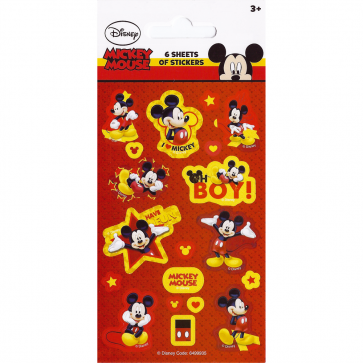 Party Stickers - 6 sheets - Mickey Mouse