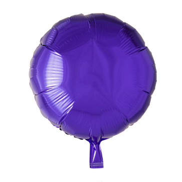 Foilballoon round, 18'' - purple, bulkpacked