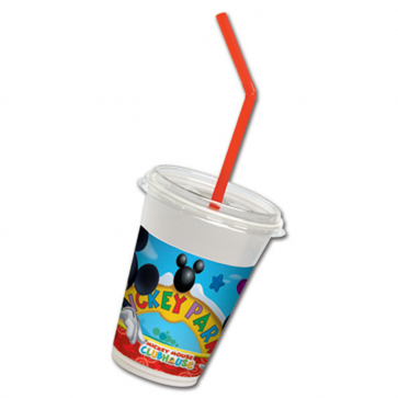 12 Milkshake Cups - Playful Mickey