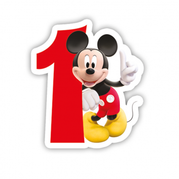 1 Birthday Numeral Candles No 1 - Playful Mickey