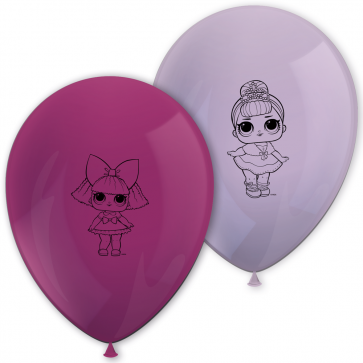 8 11 inches Printed Balloons - LOL Glitterati