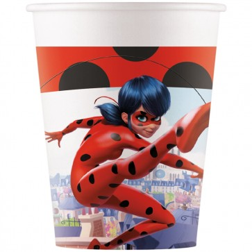 8 Paper cups 200ml - Miraculous Ladybug
