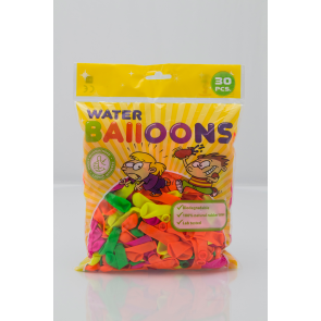 30 waterballoons , 3'' - astd. color - Neon