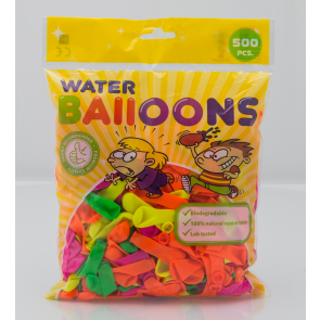 500 waterballoons , 3'' - astd. color - Neon