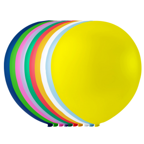 10 balloons, 10'' - astd colors