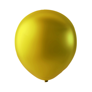 10 balloons metallic, 9'' - gold