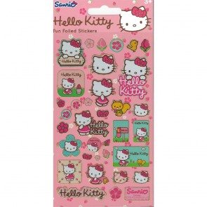 Small Foil Stickers - Hello Kitty Flowers