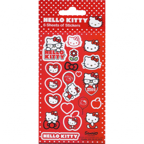 Party Stickers - 6 sheets - Hello Kitty Spots
