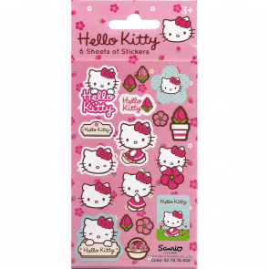 Party Stickers - 6 sheets - Hello Kitty Flowers