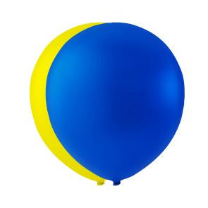 10 balloons SE, 10'' - blue/yellow
