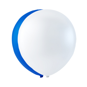 10 balloons FI, 10'' - white/blue