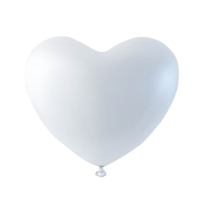 6 heartballoons , 10'' - white