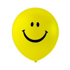 "6 balloons ""smile"" , 10'' - yellow"