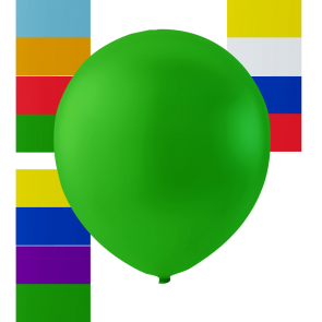 4 jumbo balloons, 16'' - astd. color