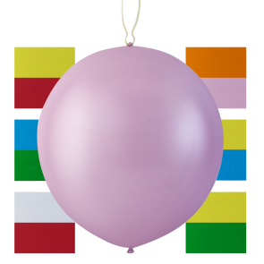 2 Punchballoons ass colors, 23'' - astd. color