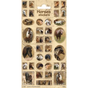 Paper Sheet Stickers Horses 2