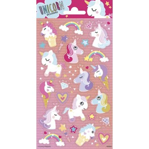 Paper Sheet Stickers Unicorns
