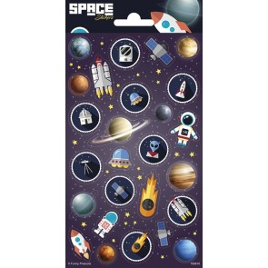 Paper Sheet Stickers Space