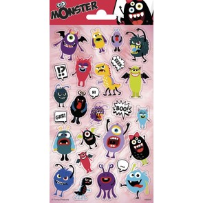 Paper Sheet Stickers Monsters