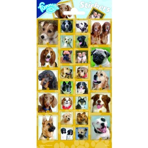 Paper Sheet Stickers Dogs