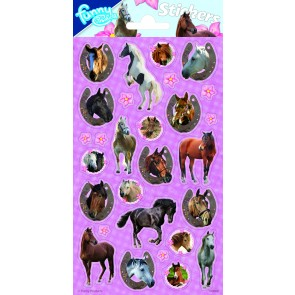 Paper Sheet Stickers Horses