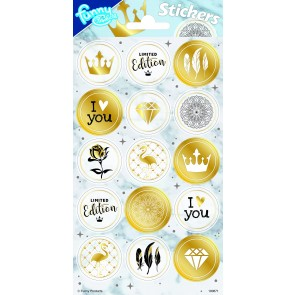 Paper Sheet Stickers Gold
