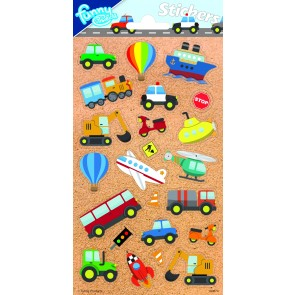 Paper Sheet Stickers Vehicles 2