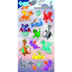 Paper Sheet Stickers Dragons