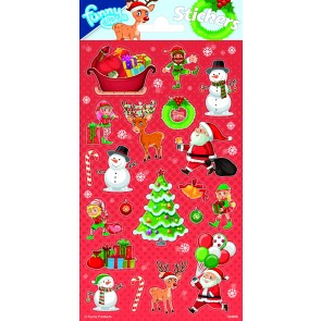 Paper Sheet Stickers Christmas 1