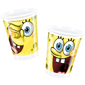 10 Plastic Cups 200 ml - Spongebob