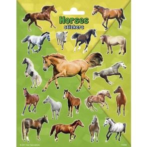Paper Sheet Stickers Large Horses
