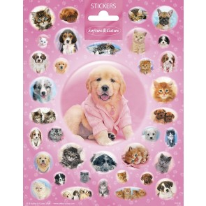 Paper Sheet Stickers Large Softies & Cuties