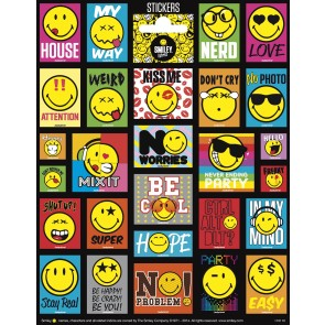 Paper Sheet Stickers Large Smiley World