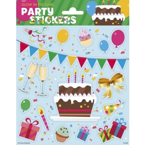 Paper Sheet Stickers Large Glow in the Dark - Party