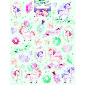Paper Sheet Stickers Large Unicorn