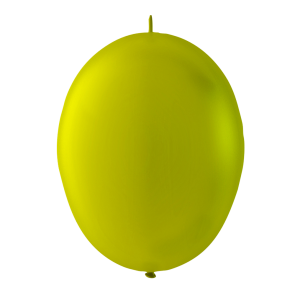 100 link balloons, 10'' - metallic yellow