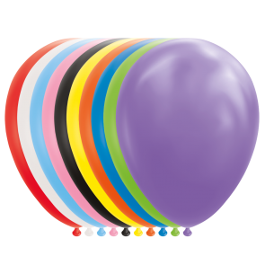 "25 Balloons 12"" mixed colors"