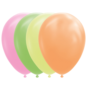 "10 Balloons 12"" neon mixed colors"