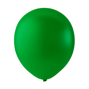 100 balloons, 12'' - dark green