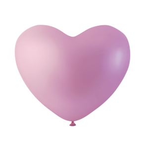 100 heartballoons, 10'' - pink
