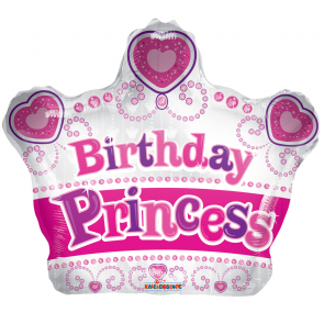 "Foilballoon shape , 18"" - pr birthday princess crow"