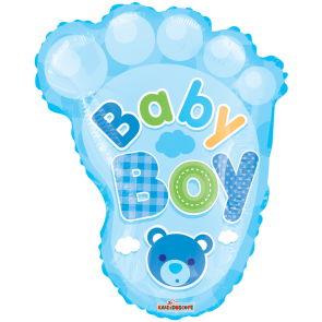 "Foilballoon shape, 20""  - pr baby boy foot"