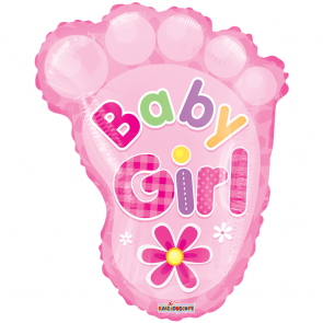 "Foilballoon shape, 20""  - pr baby girl foot"