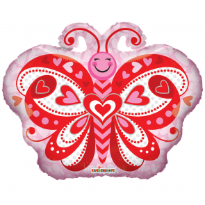 "Foilballoon shape  ,  18""  -  pr lovely butterfly shape"