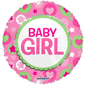 "Foilballoon round  ,  18""  -  bv baby girl"